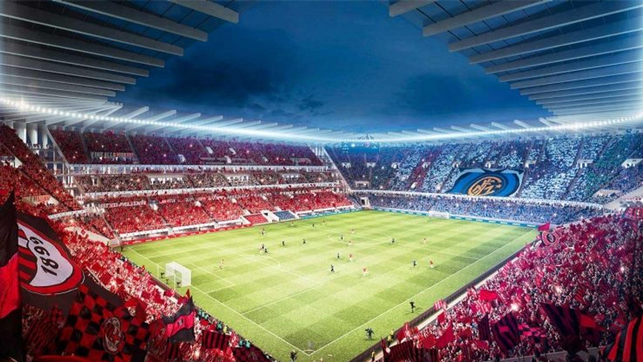 Inter Milan And Ac Milan Reveal New Stadium Designs Football News Sky Sports