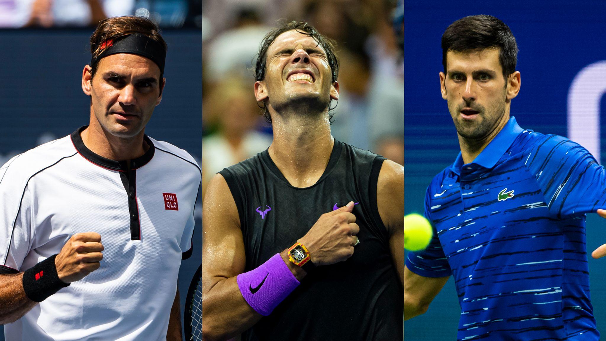 Will Roger Federer Rafael Nadal Or Novak Djokovic Win The Most Grand Slam Titles Tennis News Sky Sports