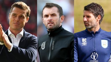 Fulham manager Scott Parker, Stoke boss Nathan Jones and new Huddersfield manager Danny Cowley