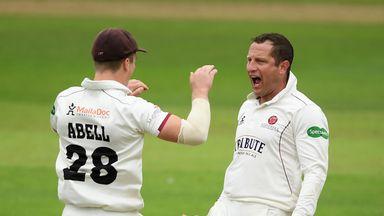 Roelof van der Merwe helped put Somerset on top against Yorkshire