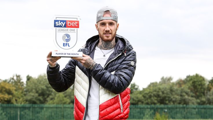 Marcus Maddison of Peterborough United wins the Sky Bet League One Player of the Month award - Mandatory by-line: Joe Meredith/JMP - 10/09/2019 - FOOTBALL -  - , England - Sky Bet Player of the Month Award