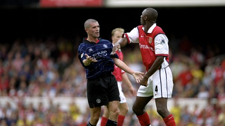 Roy Keane and Patrick Vieira had a rocky relationship on and off the field during their time in the Premier League