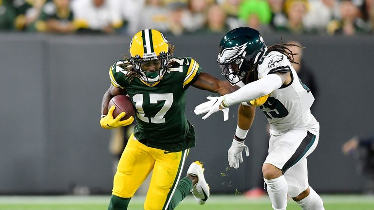 Davante Adams' return to fitness is being monitored on a 'day-to-day' basis