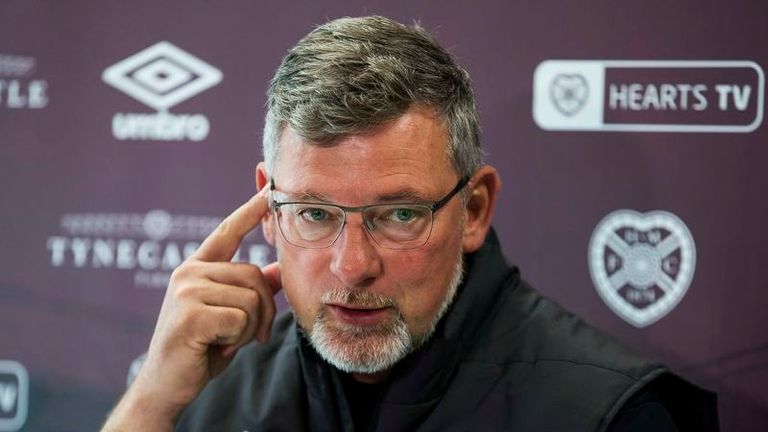 EDINBURGH, SCOTLAND - SEPTEMBER 20: Hearts manager Craig Levein speaks to the press during a Hearts Media Conference on September 20, 2019 at the Oriam, in Edinburgh, Scotland. (Photo by Bruce White / SNS Group)