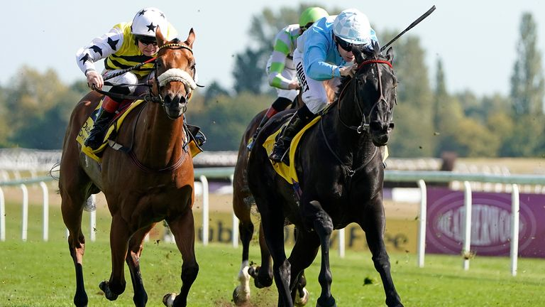 Maid In India too strong for Dakota GOld at Newbury