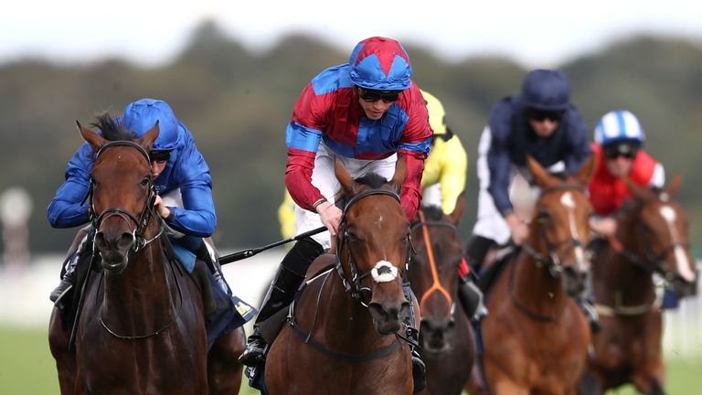 Powerful Breeze maintains her unbeaten record in the May Hill Stakes