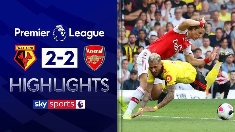 FREE TO WATCH: Highlights from Watford's 2-2 draw with Arsenal.