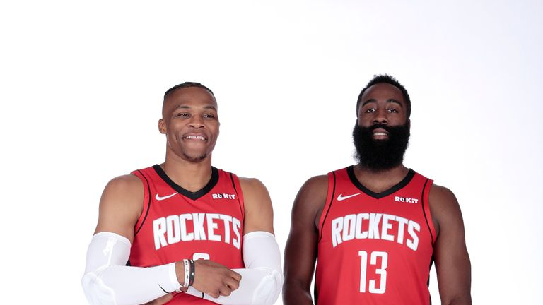 James Harden and Russell Westbrook join forces but questions abound for Houston Rockets | NBA News |