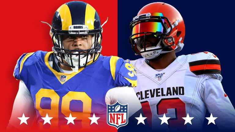 Aaron Donald and Odell Beckham Jr will go at it when the Browns host the Rams on Sunday night