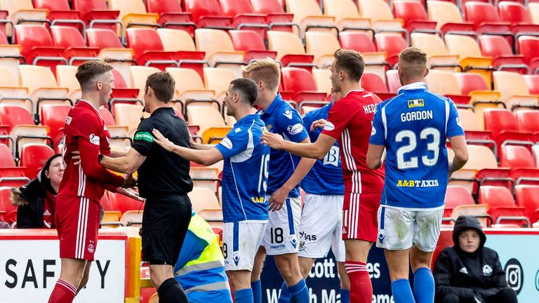Tempers flare during as St. Johnstone hold Aberdeen