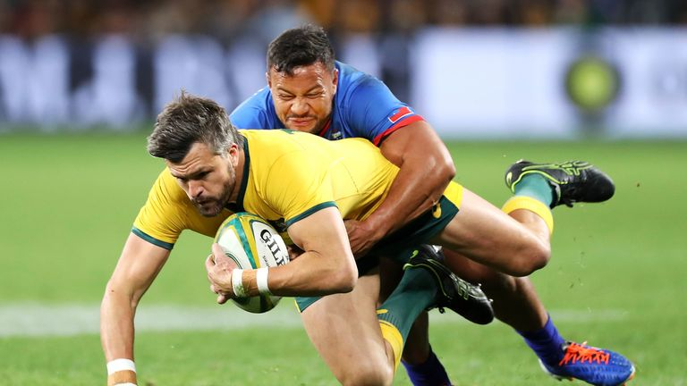 Adam Ashley-Cooper was one of six try scorers for the Wallabies