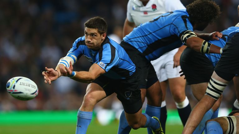 Uruguay scrum-half Agustin Ormaechea is following his in his father's footsteps