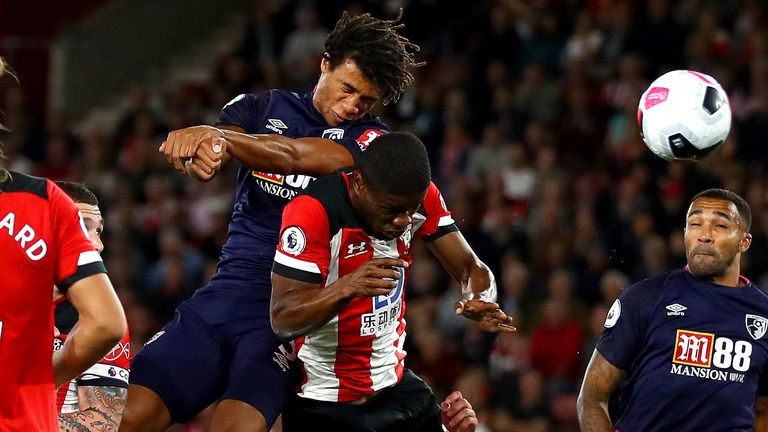 Nathan Ake scores for Bournemouth against Southampton in the Premier League
