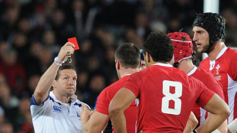Referee Alain Rolland brandished the straight red after just 18 minutes of the semi-final
