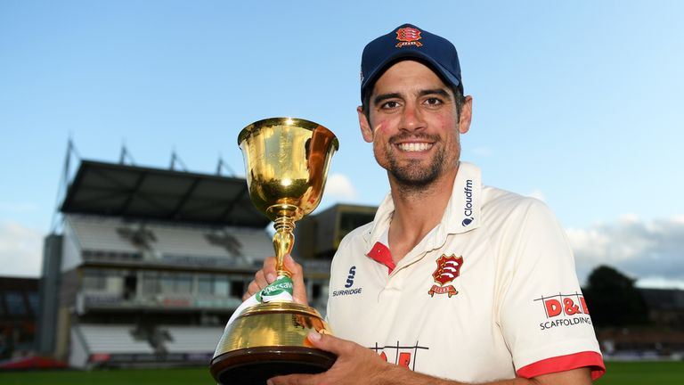 Sir Alastair Cook continues to play for Essex and helped them to win the County Championship last season
