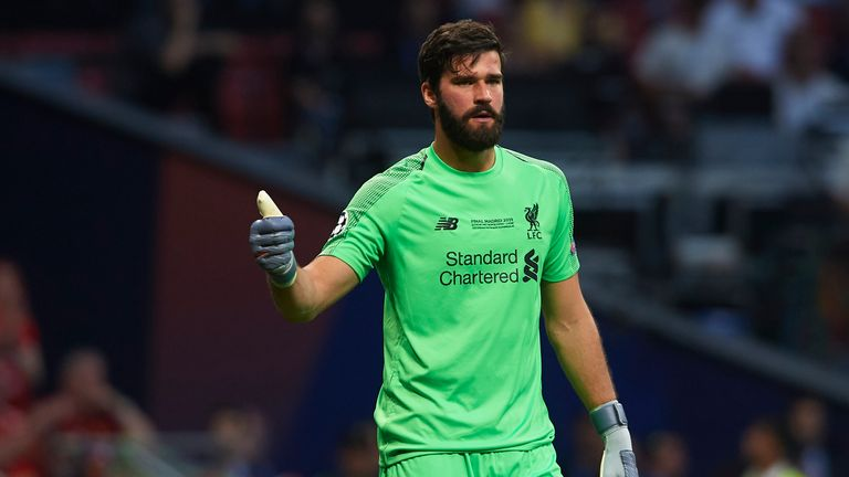 Alisson is chosen ahead of David de Gea despite being injured this season