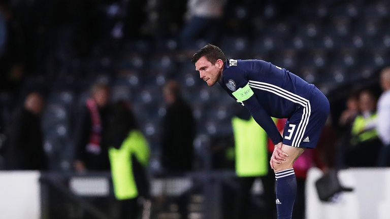 Andrew Robertson was left fuming with Scotland after their 2-1 defeat to Russia