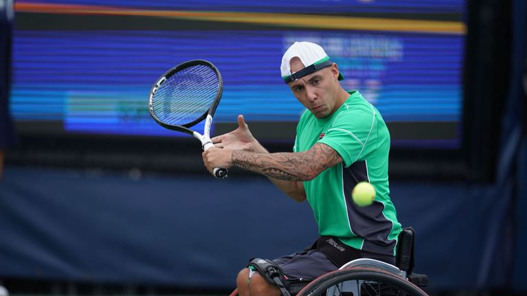 Andy Lapthorne won the quad singles at the US Open in 2014
