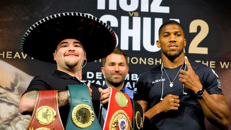 Ruiz Jr holds three world titles ahead of the second fight in Saudi Arabia