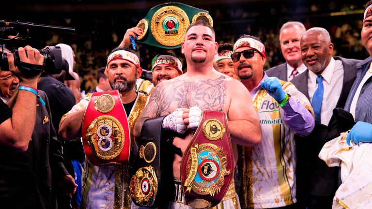 Robles (L) helped Ruiz Jr become IBF, WBA and WBO champion