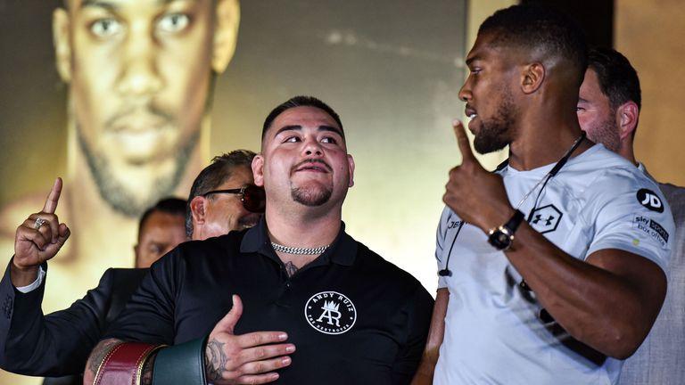 Ruiz Jr vs Joshua: Intense face off in Saudi Arabia as