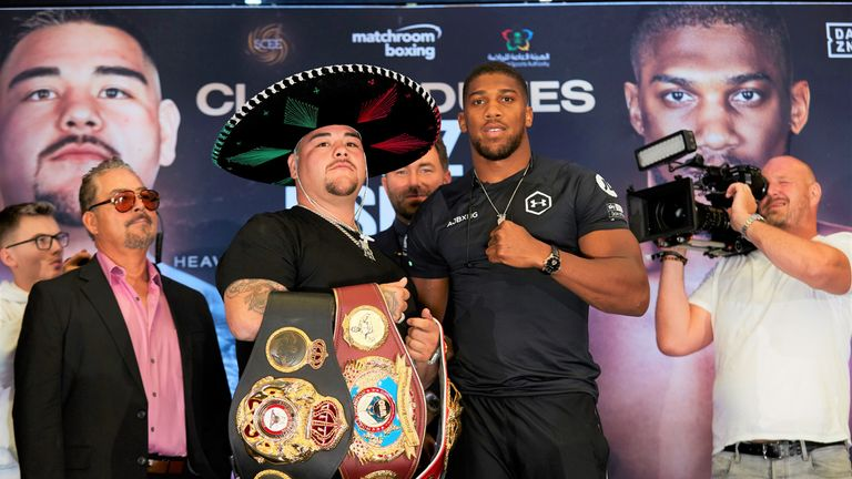 Anthony Joshua attempts to regain world titles from Andy Ruiz Jr in a rematch