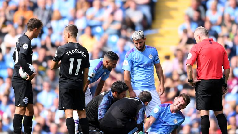 Aymeric Laporte has made more passes than any other player in the Premier League with 302 to date, but suffered an injury during the 3-1 win over Brighton