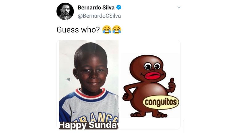 Bernardo Silva posted this image that was later removed