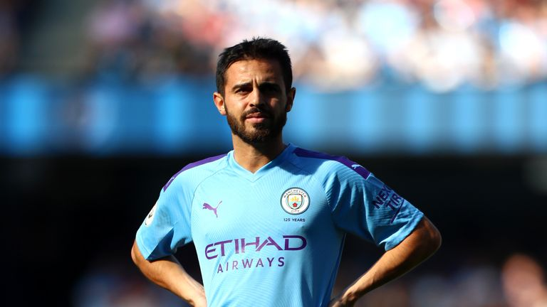 Bernardo Silva pictured during Manchester City's 8-0 win over Watford in which he scored a hat-trick
