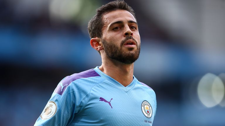 Man City midfielder Bernardo Silva made it into the top 10