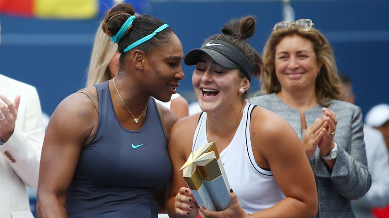 Andreescu won her second title of the year after Serena Williams retired injured in the Toronto final