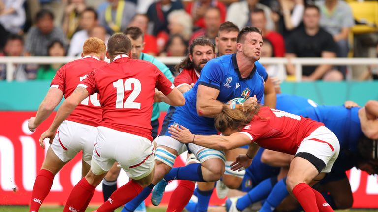Italy finish third in Pool B behind New Zealand and South Africa