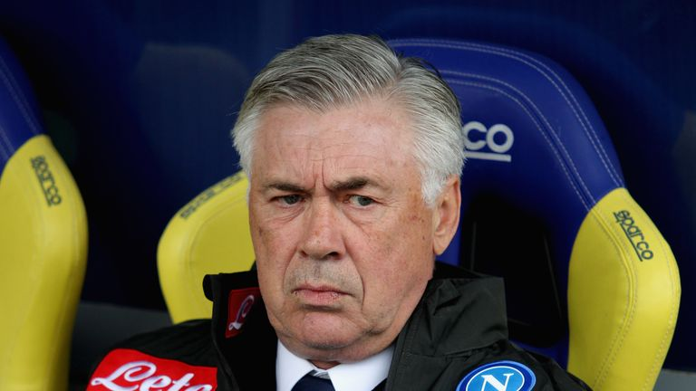 Ancelotti says he is 'shocked at the incompetence' regarding the lack of progress made to the changing rooms at the San Paolo stadium