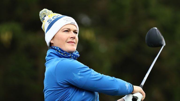 Caroline Masson was two up after six holes