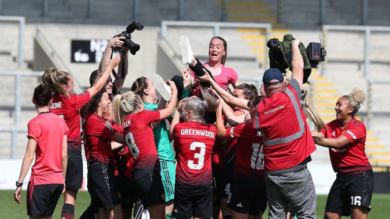 Casey Stoney helped Manchester United to promotion last term