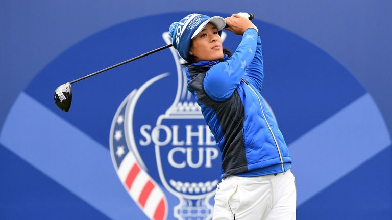 Celine Boutier won all four of her matches at Gleneagles