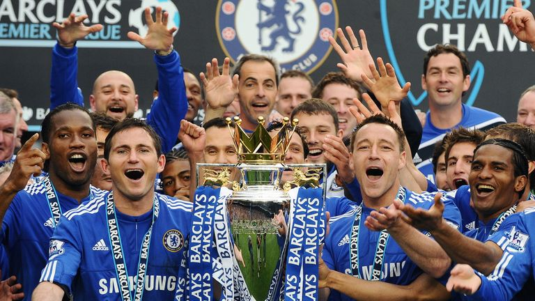Chelsea were crowned Premier League champions after their demolition of Wigan in 2010