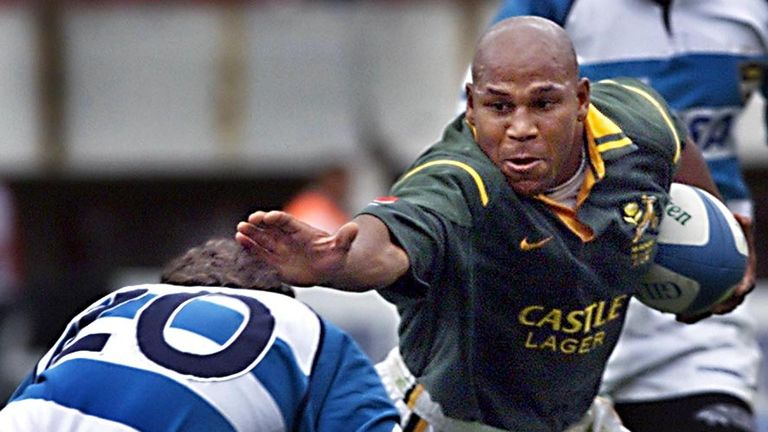 Williams scored four tries in South Africa's 1995 World Cup quarter-final over Western Samoa