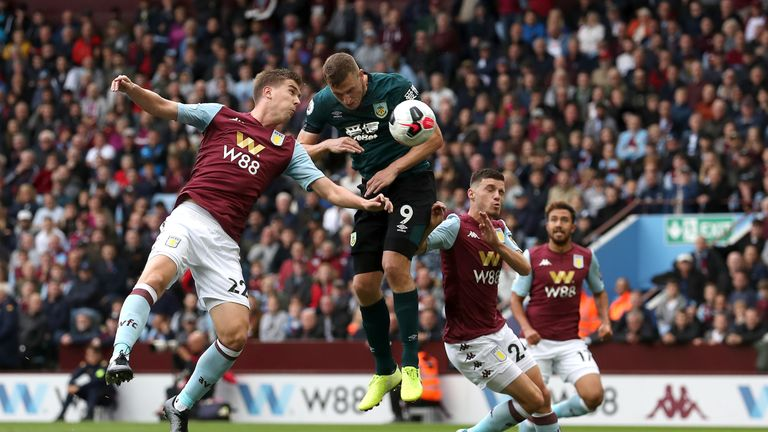 Chris Wood equalised for Burnley 92 seconds after Aston Villa had gone ahead