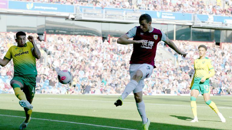 Chris Wood fired Burnley ahead