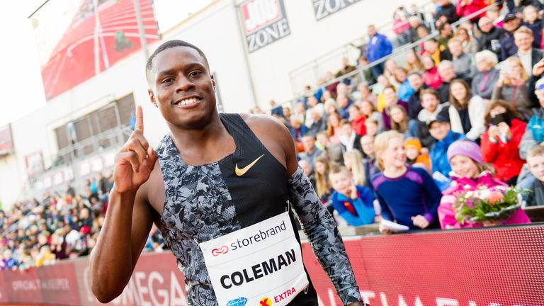 Christian Coleman is now eligible to compete in this month's World Athletics Championships in Doha