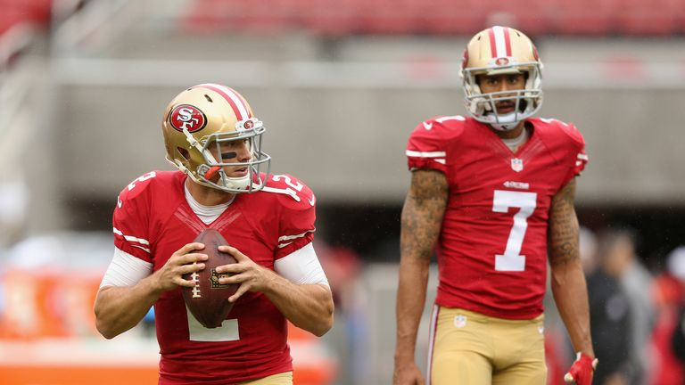 Kaepernick was benched in 2015 as Blaine Gabbert took over