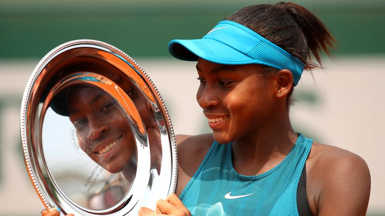 Gauff won the junior French Open in 2018