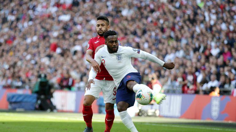 Danny Rose in action against Bulgaria at Wembley