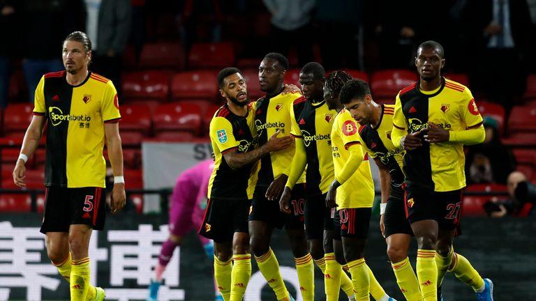 Danny Welbeck opened his Watford account against Swansea