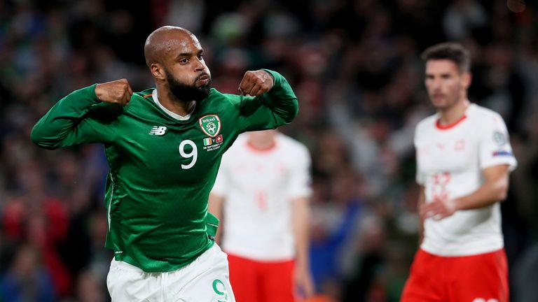 David McGoldrick scored his first Ireland goal five years after his international debut against Switzerland