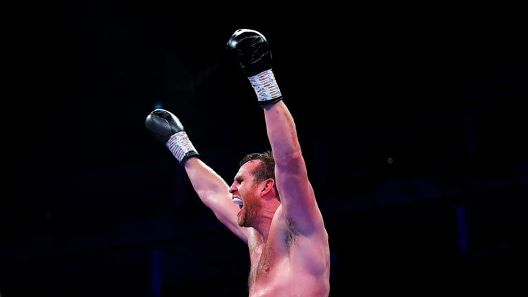 Price could not contain his emotion after victory over Allen at The O2 in July