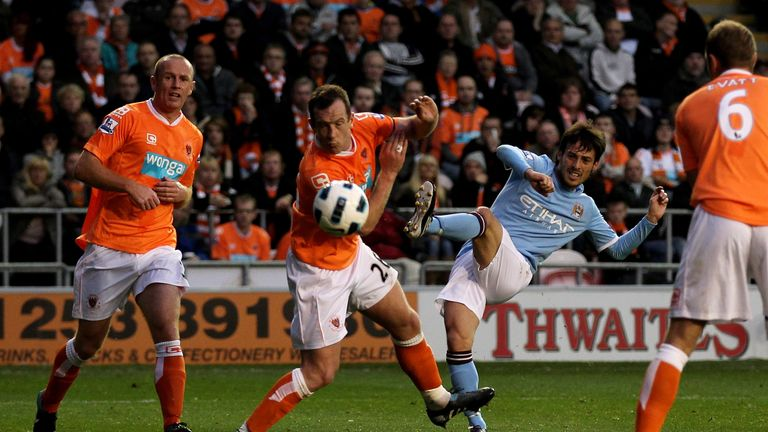 Silva's first Premier League goal sealed a 3-2 victory at Blackpool for City in October 2010