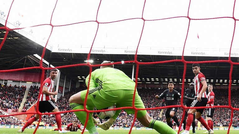 Dean Henderson has a moment to forget against Liverpool