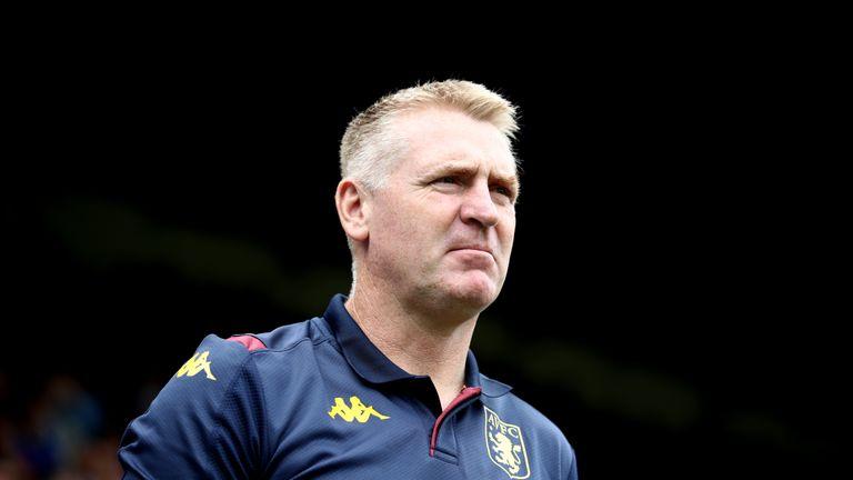 Dean Smith at Selhurst Park during Villa's 1-0 defeat to Crystal Palace